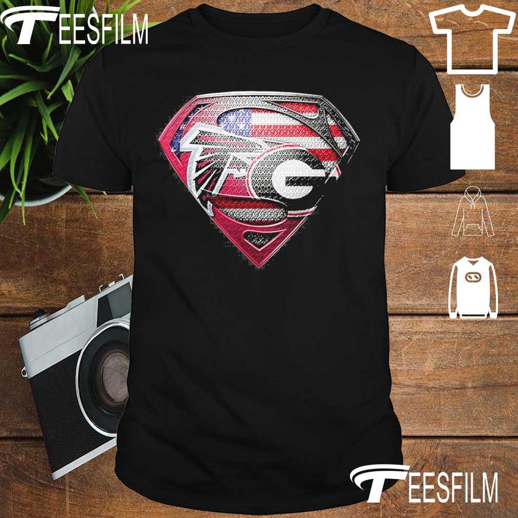 Superman Atlanta Falcons vs Georgia Bulldogs Heart shirt