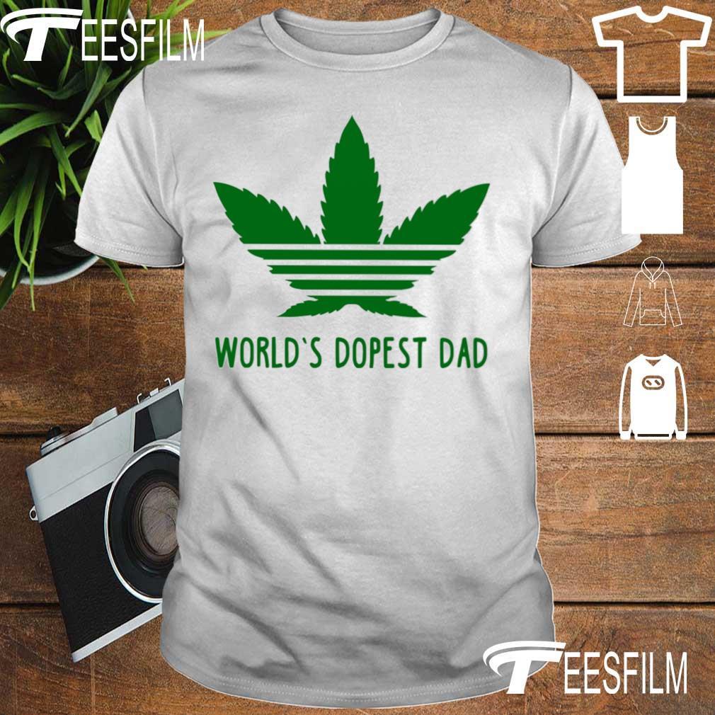 Weed Adidas world's dopest Dad shirt