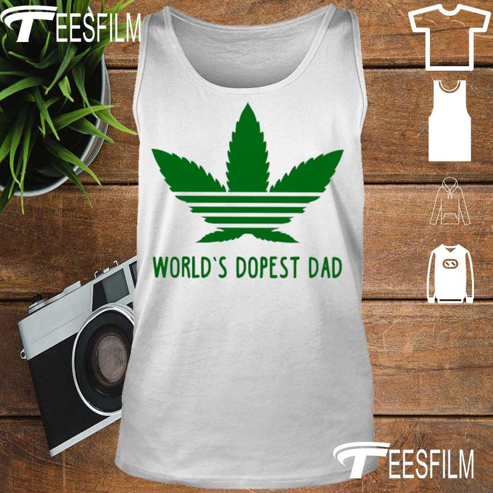 Weed Adidas world's dopest Dad s tank top