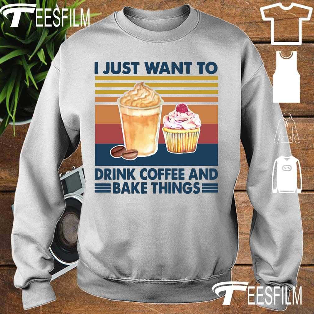 I just want to drink coffee and bake things vintage s sweater