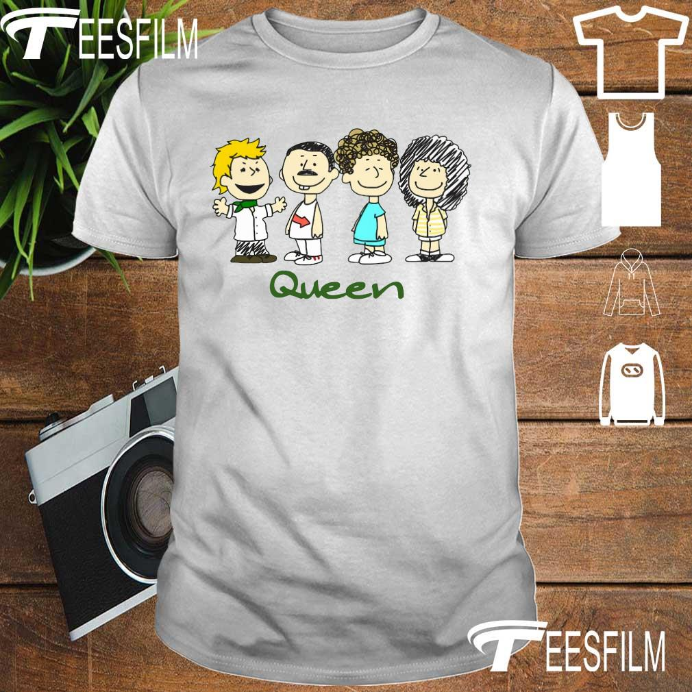 Nice The peanuts characters queen shirt