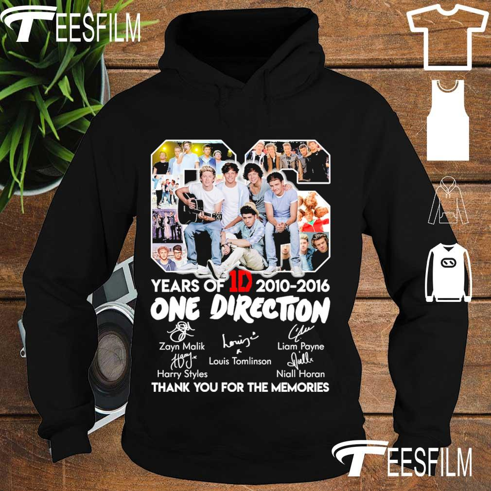 06 Years Of One Direction 1D 2010 2016 s hoodie