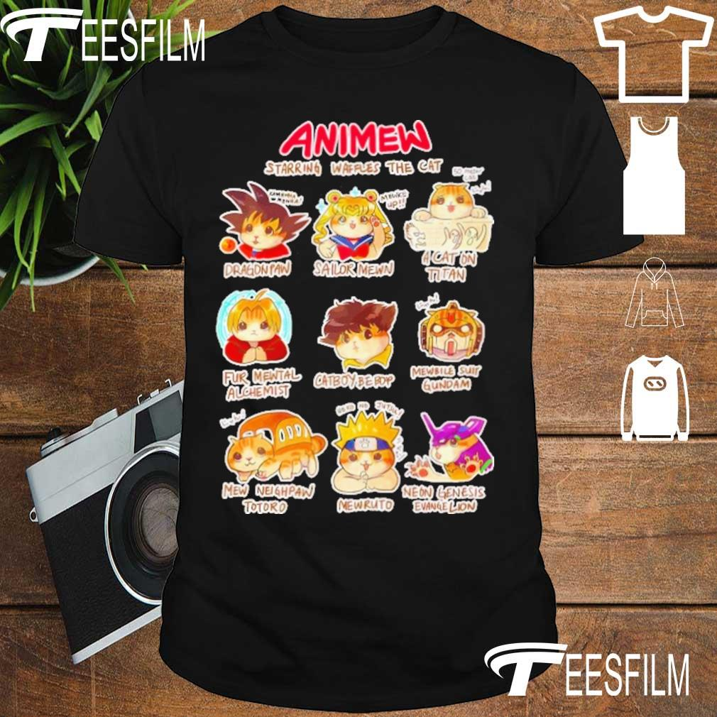 Anime Starring waffles the Cat shirt