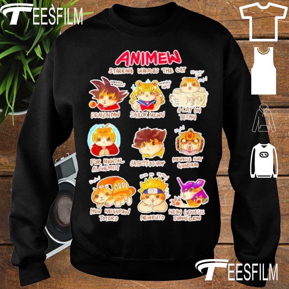 Anime Starring waffles the Cat s sweater