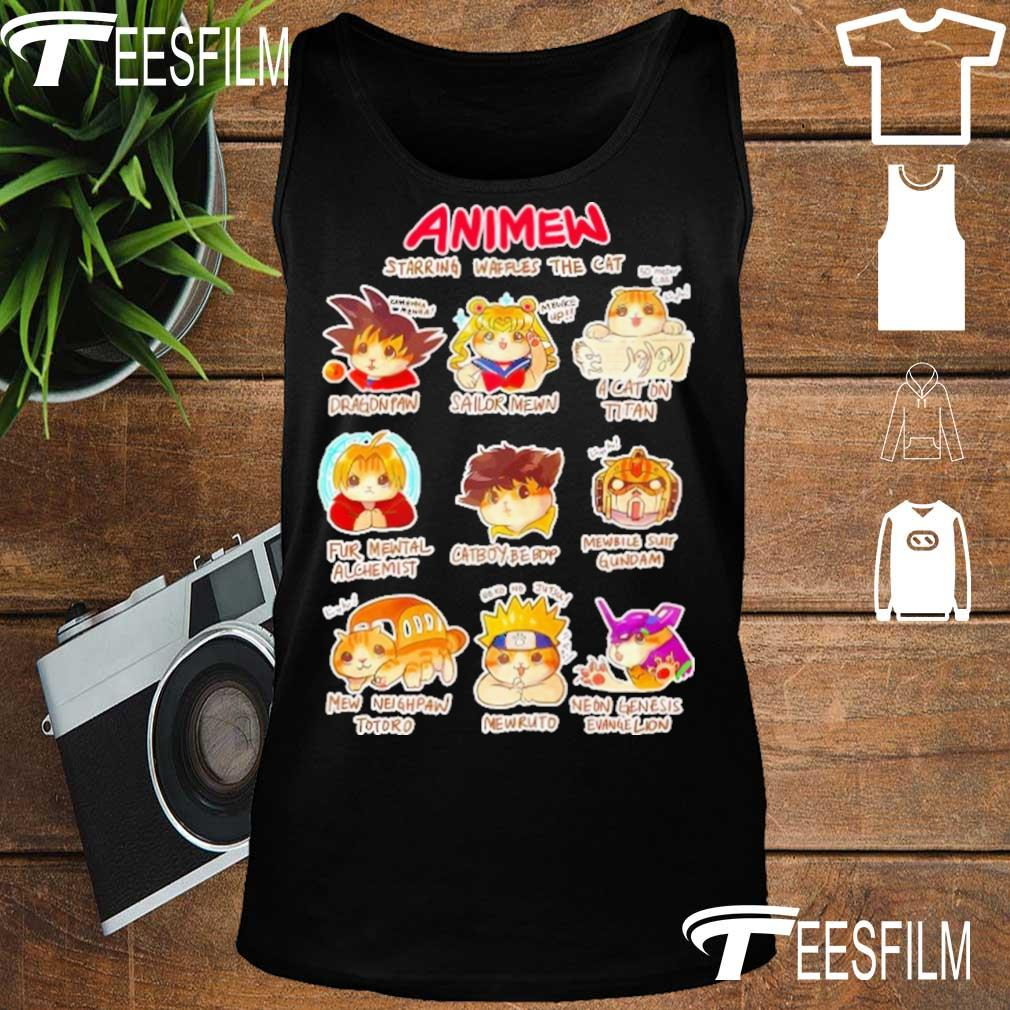 Anime Starring waffles the Cat s tank top