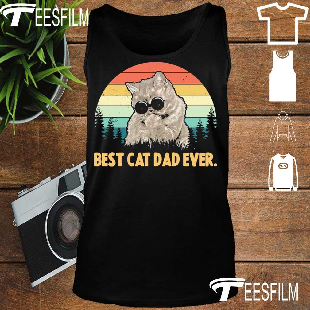Best Cat dad ever vintage s tank top