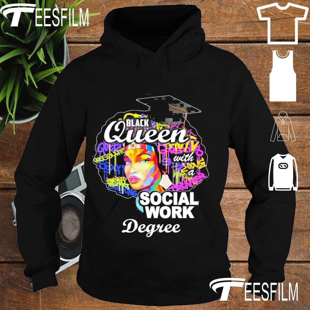 Black queen with a Social work Degree s hoodie