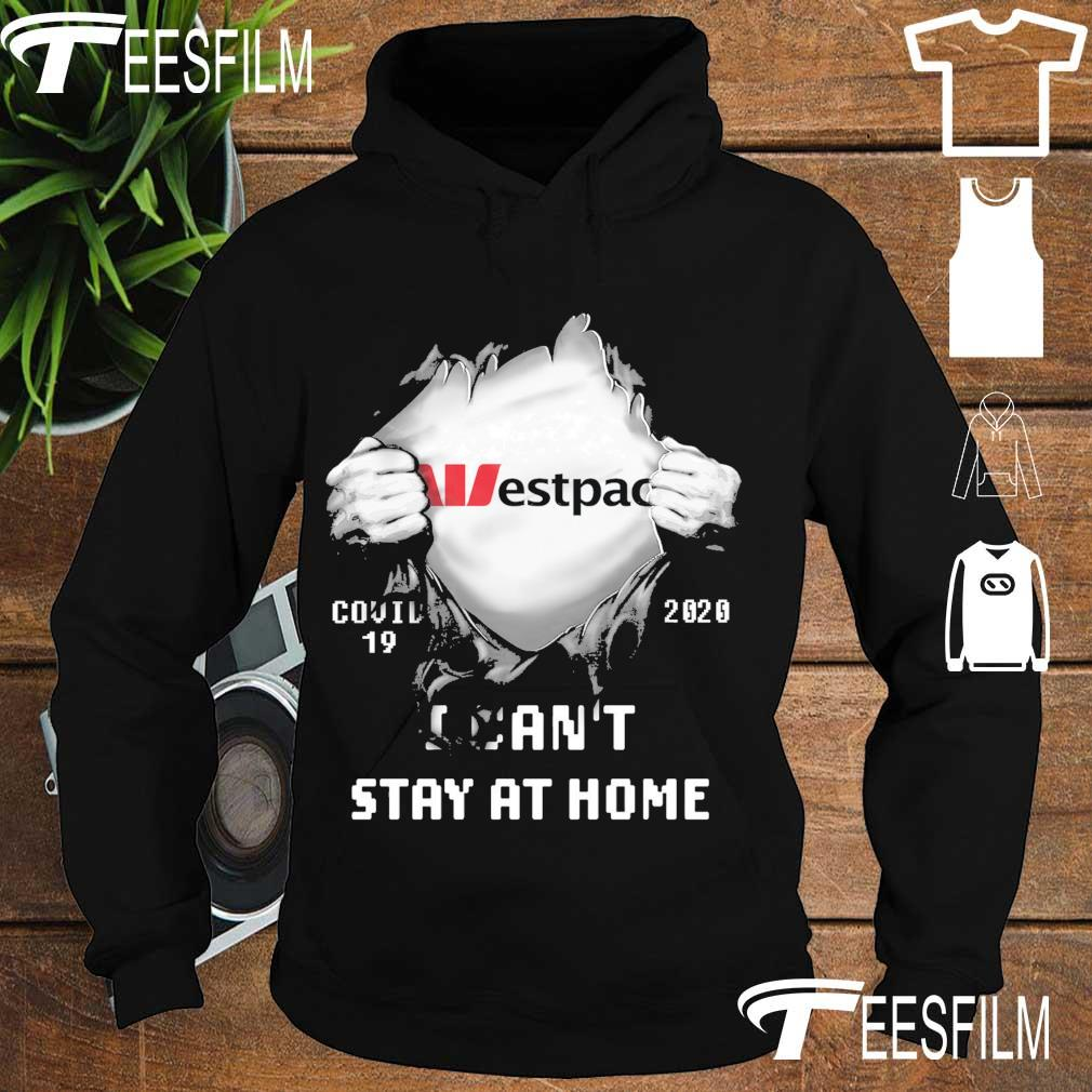 Blood inside Me Westpac Covid 19 2020 I can't stay at home s hoodie