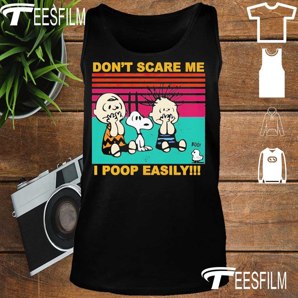 Charlie Brown Snoopy and friends don't scare me I poop easily vintage s tank top