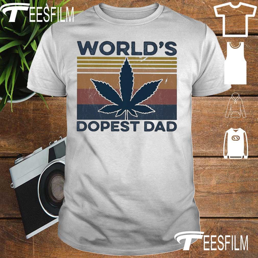 World's dopest Dad vintage shirt
