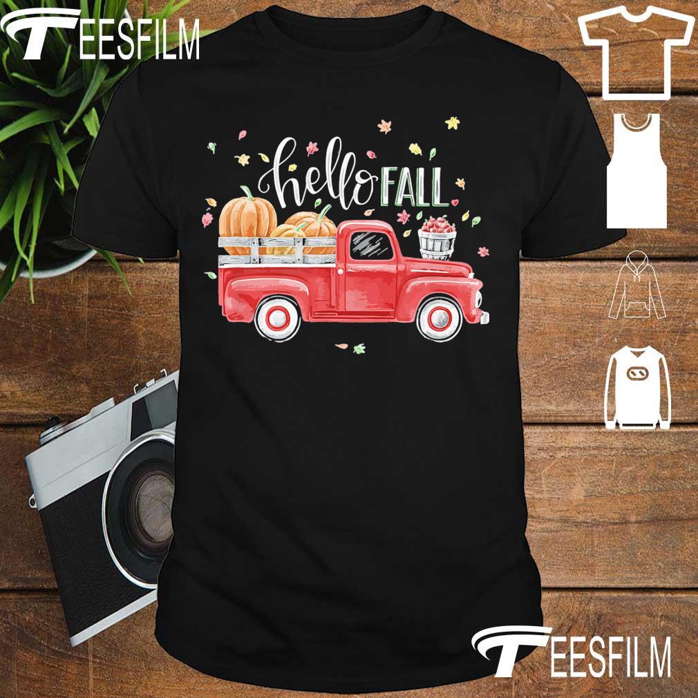Truck Pumpkin Hello Fall shirt
