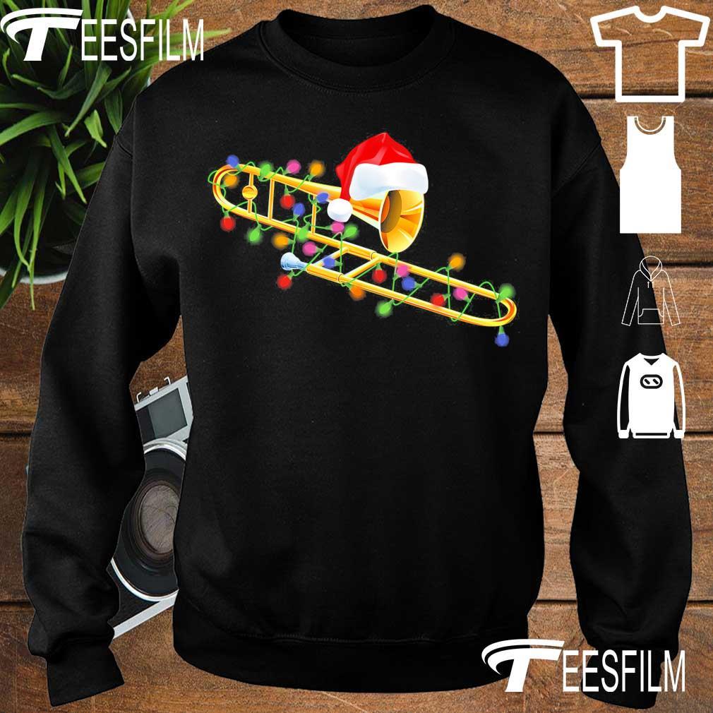 Trumpet Santa light Christmas s sweater