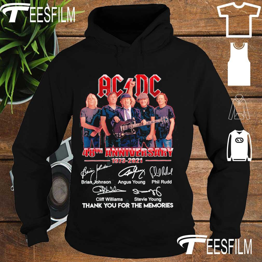 Official AC DC 48TH Anniversary 1973 2021 thank you for the memories signatures s hoodie