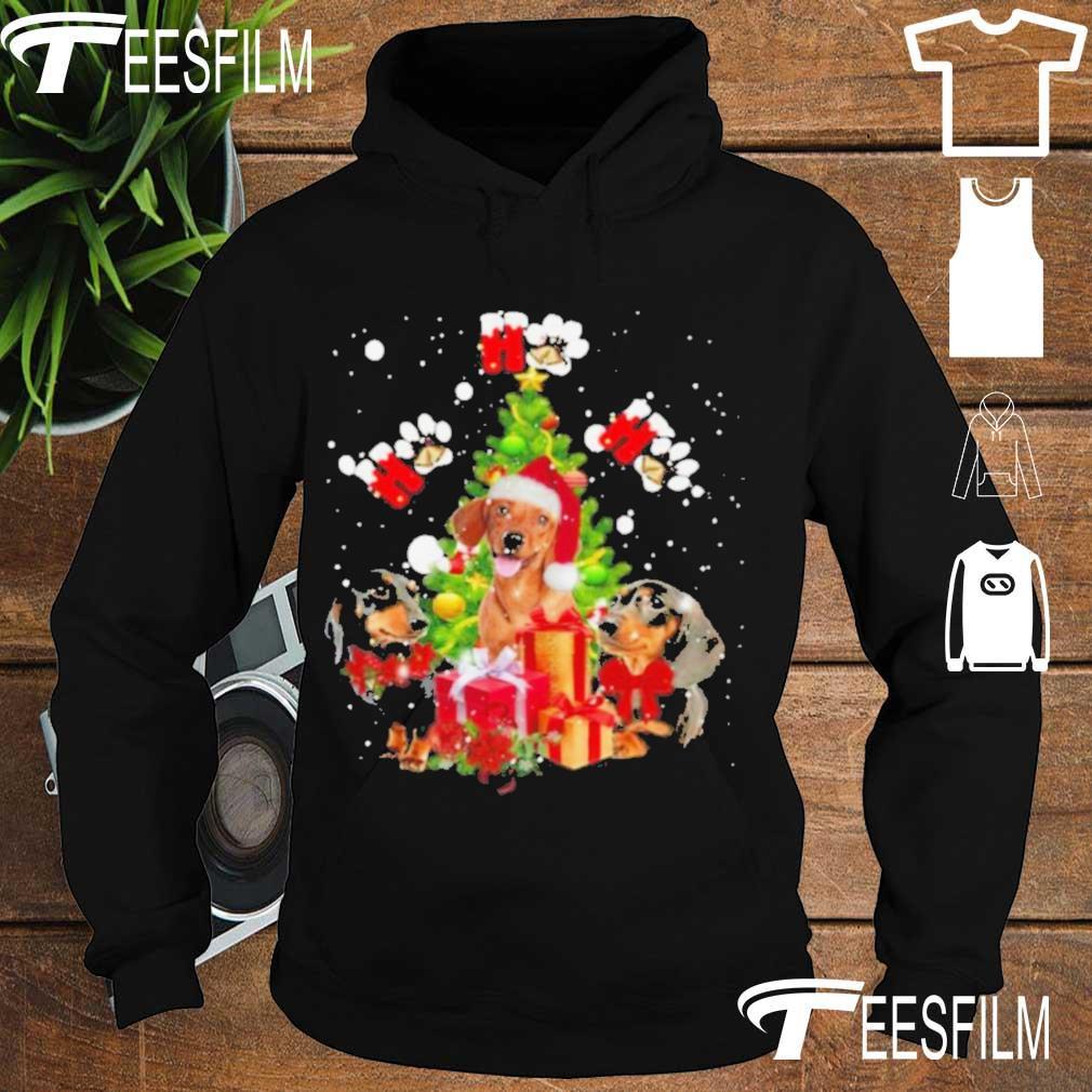 Official Dachshund Ho Ho Ho Christmas Tree Shirt hoodie