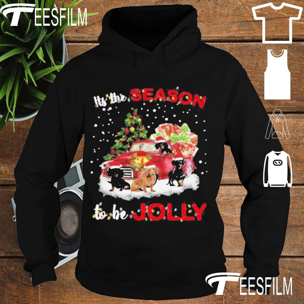 Official Dachshund It's The Season To Be Jolly Christmas Tree Shirt hoodie